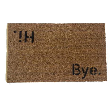 Hi Doormat by Hi Bye Block Doormat Doormats