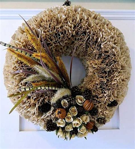 dry flowers decoration for home making wreaths with coffee filters creative crafts for