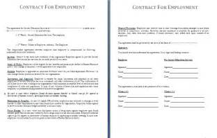 Basic Contract Of Employment Template by Employment Contract Template Free Contract Templates