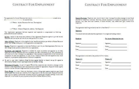 Contract Report Template 5 Work Contract Templatereport Template Document Report