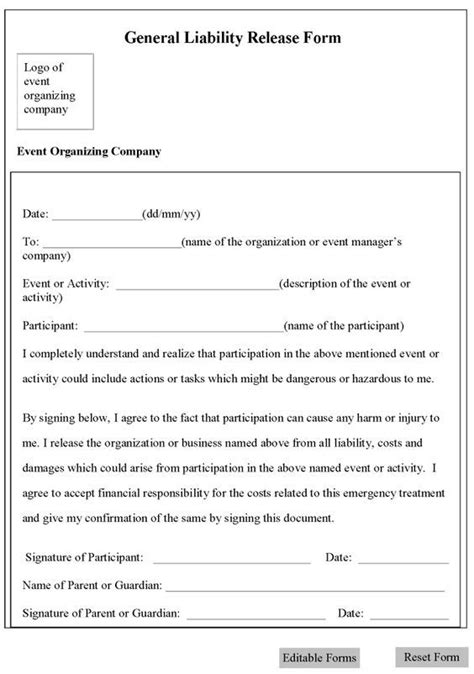 design guidelines waiver committee printable sle release and waiver of liability agreement