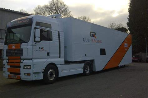 gulf racing truck racecarsdirect com gulf racing tractor and trailer