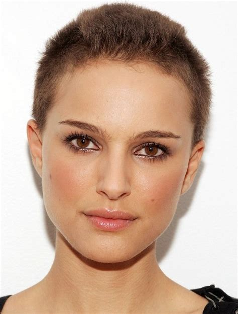 women getting crew cut haircuts natalie portman very short buzz cut cool buzzcut on women