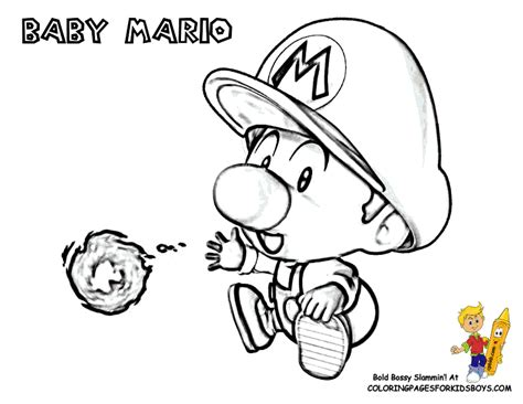 baby luigi coloring page cool mario pictures coloring mario bros free cartoon