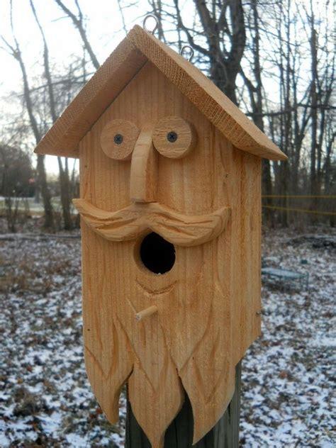 birdhousewood spirit carvings folk art primitives