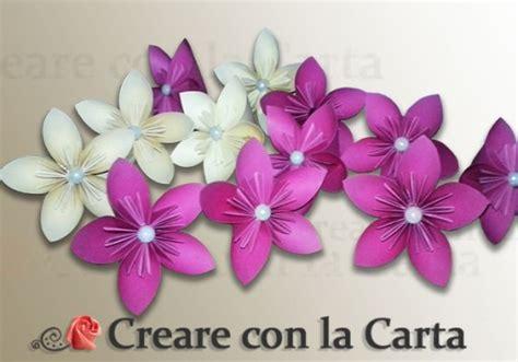 origami fiori un fiore 5 petali kusudama origami modulare