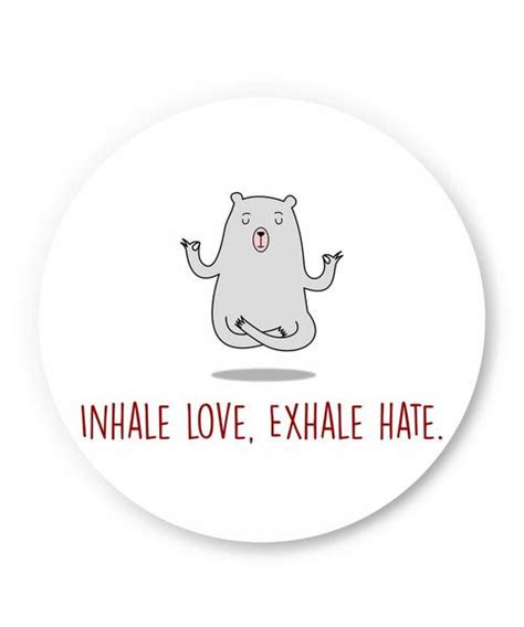 tattoo inhale love exhale hate quirky fridge magnets inhale love exhale hate quirky