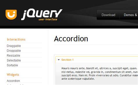 tutorial jquery accordion 30个jquery accordion菜单 教程及精典案例 前端美