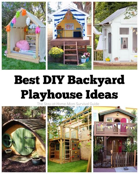 backyard playhouse ideas best diy backyard playhouse ideas the stay at home