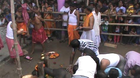 kali worship human sacrifice buffalo sacrifice in kalibari silchar on navami durga