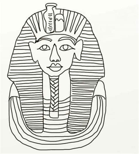 ancient mask coloring pages