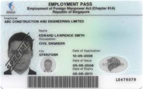 Work Permit After Mba In Singapore by Www Singaporeemploymentpass Sg Professional Fast