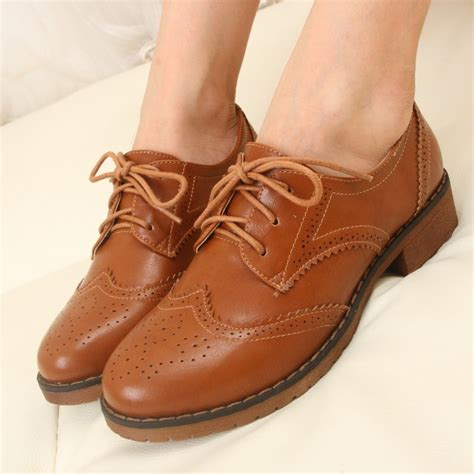 womens flat oxford shoes plus size 34 43 brogue oxford shoes flats new