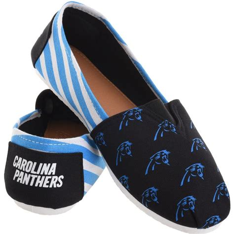 nfl shoes for fans carolina panthers nfl womens canvas stripe shoes sports