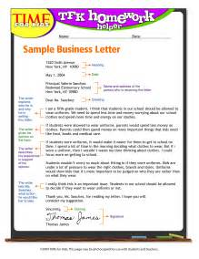 exandle business letter format for write business