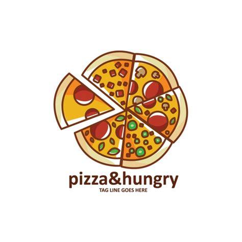 Pizza Shape Logo Template Vector Free Download Pizza Logo Design Template