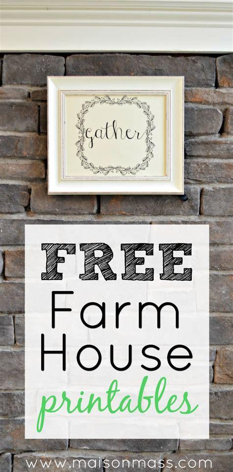 free farmhouse printables maison mass