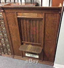 Us Post Office Oak Mail Box Unit W 156 Corbin Combination