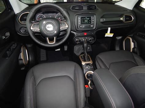 cool jeep interior interior view of the 2015 jeep renegade limited lots of