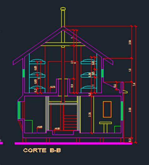 two level floor plans two level cottage with floor plans 2d dwg design section