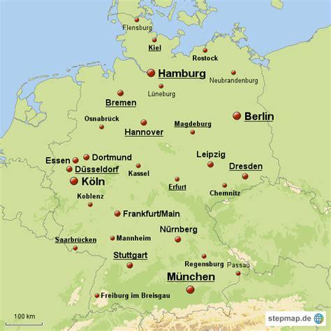 deutsches büro grüne karte adresse deutschland mit st 228 dten maxi76 landkarte f 252 r deutschland