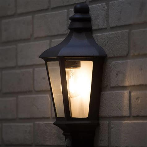 black wall lights turn your patio into an amazing exterior room warisan lighting 1 light outdoor wall half lantern garden pir motion sensor anthracite litecraft 5020024852329 ebay