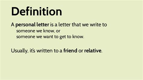 Informal Business Letter Definition situational writing informal personal letter