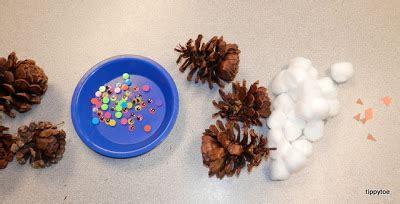 Tippytoe Crafts Pine Cone Snowy Owls - tippytoe crafts pine cone snowy owls