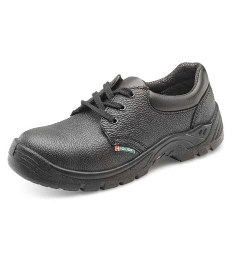 black leather s1 safety work shoe
