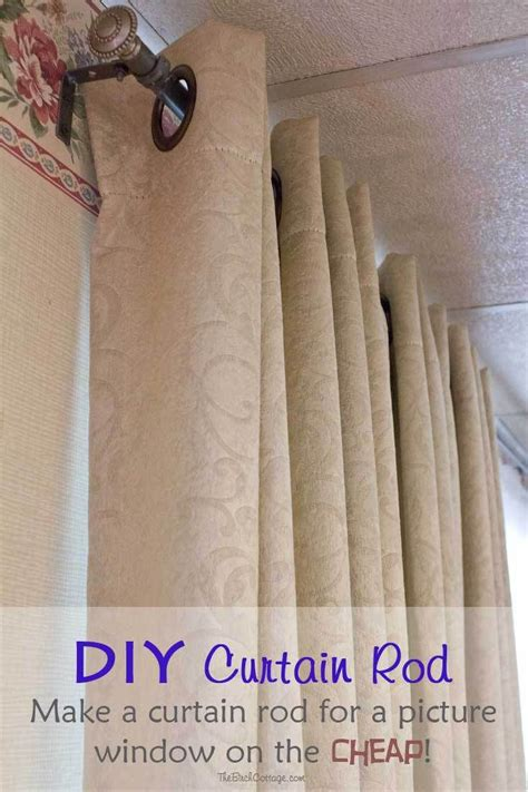 diy curtains cheap diy curtain rod for a large picture window on the cheap