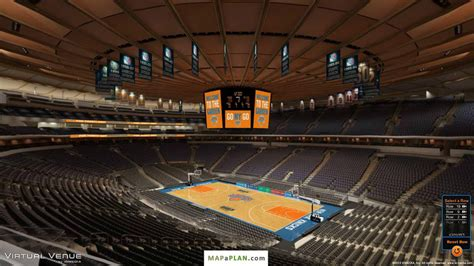 Madison Square Garden Seating Chart Detailed Seat