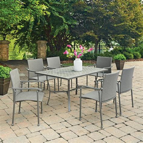 Umbria Set home styles umbria 7 concrete outdoor dining set