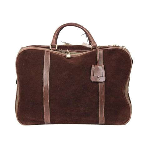 Gucci Cabin Luggage by Gucci Vintage Brown Suede Cabin Size Suitcase Travel Bag