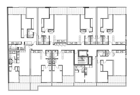 architectural construction drawings mapo house and cafeteria gallery of the maze apartments cht architects 10