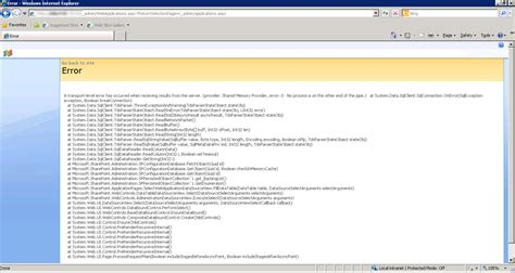 ui layout callback error moss 2007 error while central administration navigation