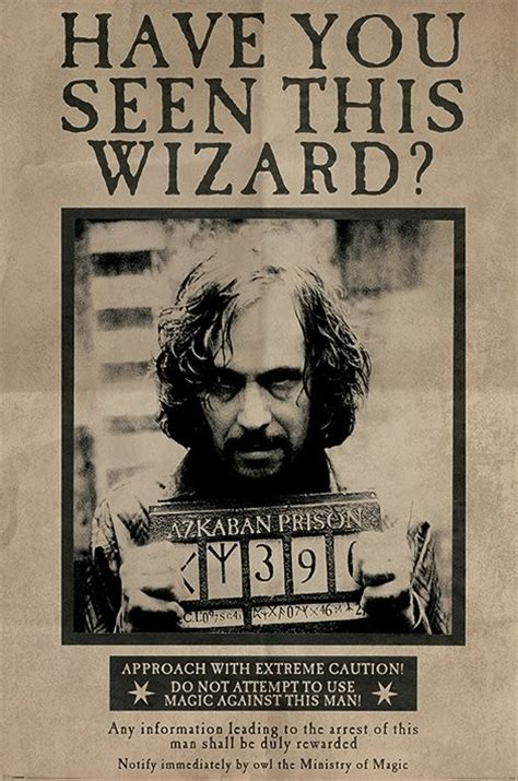 Plakat Harry Potter by Harry Potter Wanted Sirius Black Plak 225 T Obraz Na Zeď
