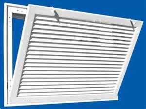 return air vent filter grille hvacquick truaire 290 series fixed bar return air filter