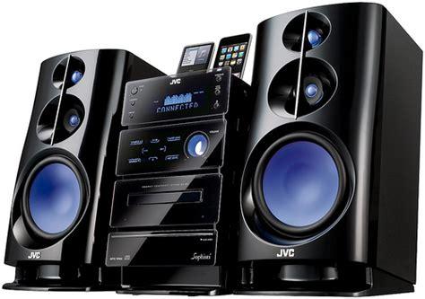 jvc nx   ux  shelf stereo systems  dual ipod