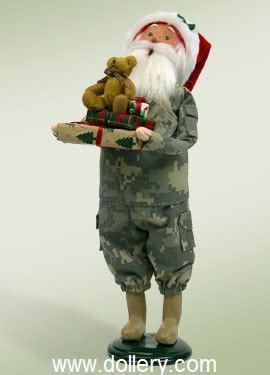 santa claus usa army byers choice carolers
