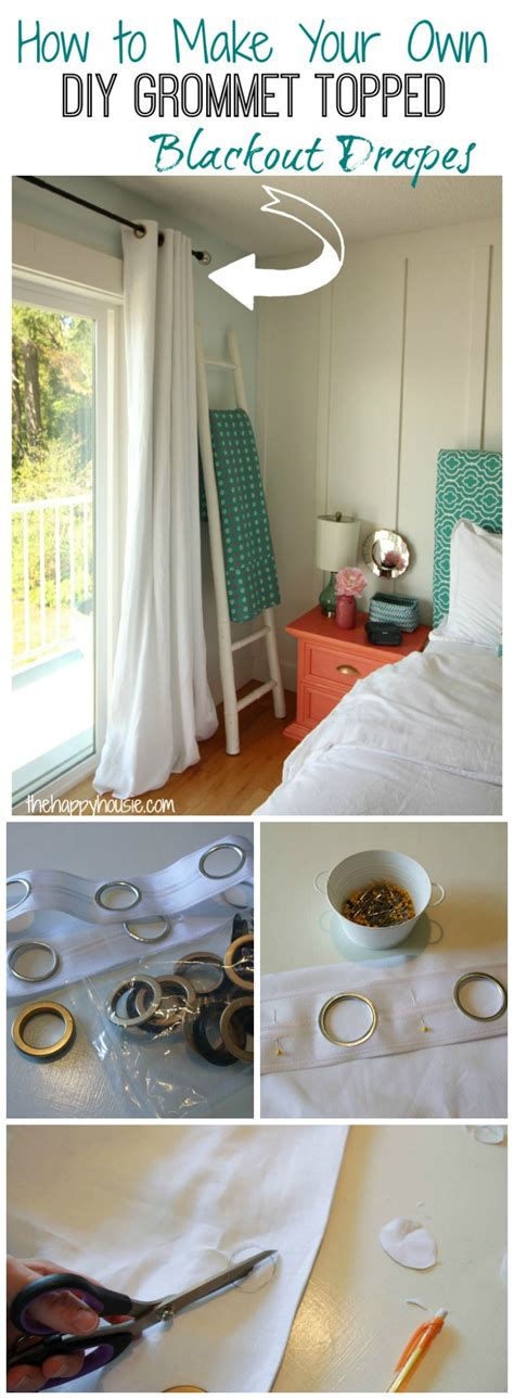 making drapes with grommets how to make your own diy grommet topped blackout drapes