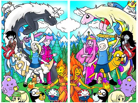 Poster Adventure Time Universe 3 20x30cm 1 adventure time side by side by therealjoshlyman on deviantart