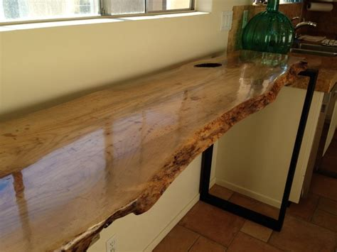 Live Edge Bar Table Live Edge Bar Table Contemporary Kitchen San Diego By Dagan Design Construction