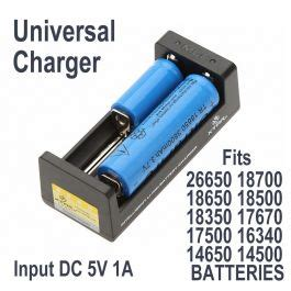 Charger Baterai Universal 18650 26650 16340 14501 2 slot universal charger for 26650 18650 16340 14500 10440 batteries blp lasers