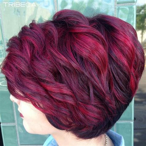 hairstyles burgundy highlights 35 mesmerizing short red hairstyles for true redheads