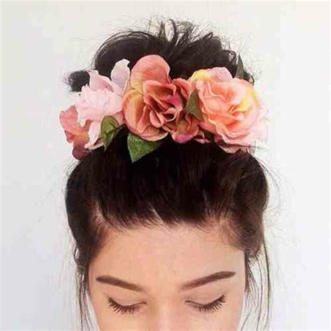 flower headband hairstyles tumblr hair accessory hipster wedding flower crown accessories