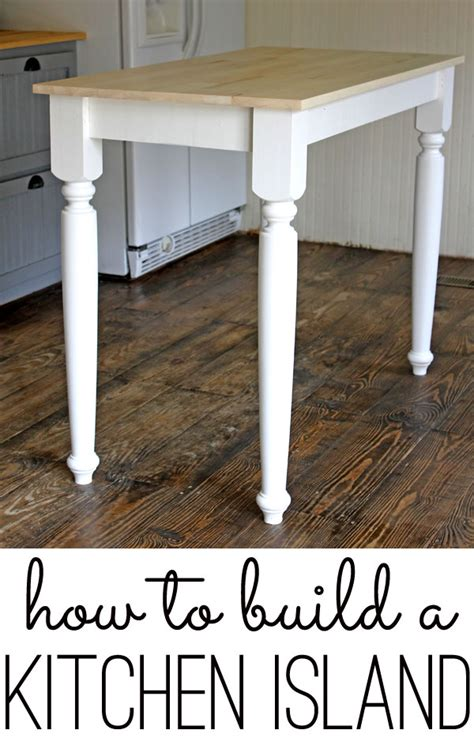 How To Build A Simple Kitchen Island | how to build a kitchen island an easy diy project