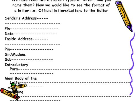 Format Of Formal Letter In Icse Give The Format Of Informal Letter Meritnation