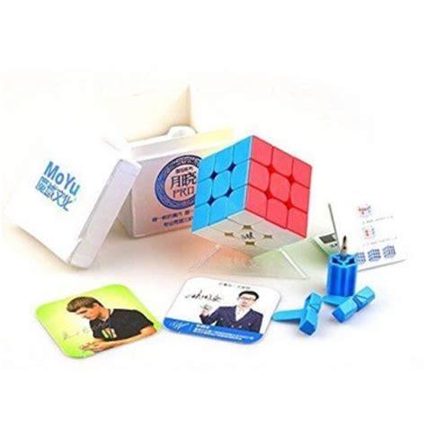 Rubik 3x3 Moyu Guoguan Yuexiao Pro 3x3 Black moyu guoguan yuexiao 3x3x3 black base maskecubos