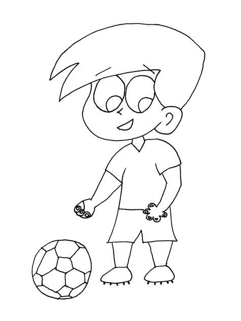 imagenes de niños jugando futbol para dibujar dibujo de futbol
