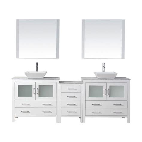 virtu usa 78 in w x 18 3 in d vanity in white with